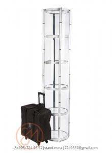 Витрина 206x50 см мобильная раскладная в сумке на колесах